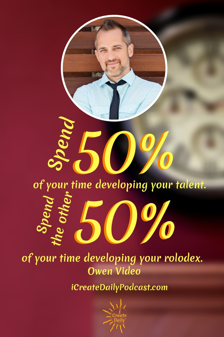 """Spend 50% of your time developing your talent. Spend the other 50% of your time developing your rolodex.""  ~Owen Video #Quotes #Inspiration #Ideas #Art #Writing #Photography #Design #Projects #Drawings #Exercises #Business #Aesthetic #Lettering #Thinking #Journal #Gifts #Decor #Illustration #Home #icreatedaily #Poster #Images #Marketing #Portfolio #poetry"