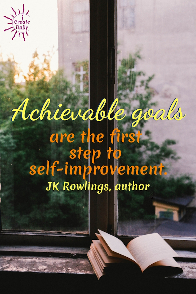 To set achievable goals you first have to step down from the lofty vision and into the daily, weekly, and monthly work required to get there.